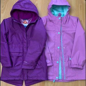 Lot of 2🌈Columbia OMNI-TECH waterproof breathable jacket+rain jacket
